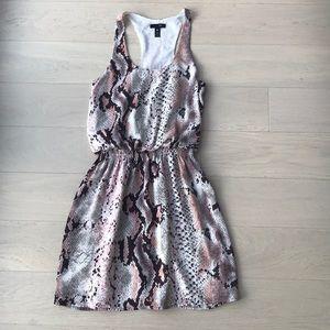 Aqua snakeskin design dress